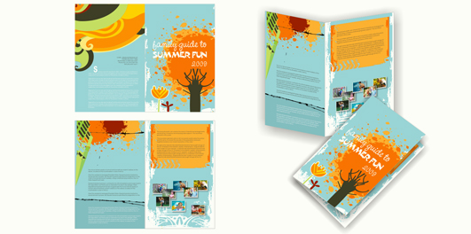 Perfect Big 4 Page Bi Fold Brochure Design. Images